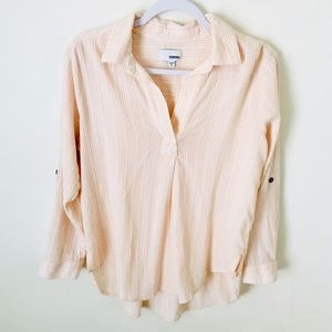 SONOMA COTTON RAYON BUTTON DOWN PETITE LARGE